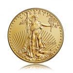 Zlatá investiční mince American Eagle (Americký orel) 7,78 g - druhá strana