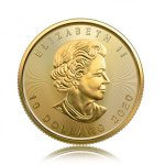 Zlatá investiční mince Maple Leaf 7,78 g – druhá strana