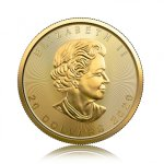 Zlatá investiční mince Maple Leaf 15,55 g – druhá strana