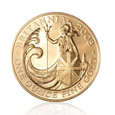 Zlatá investiční mince Britannia 31,1 g – první strana