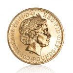 Zlatá investiční mince Britannia 31,1 g – druhá strana