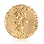 Zlatá investiční mince Britannia 1/2 Oz 916,6/1000 (do roku 2012) – druhá strana