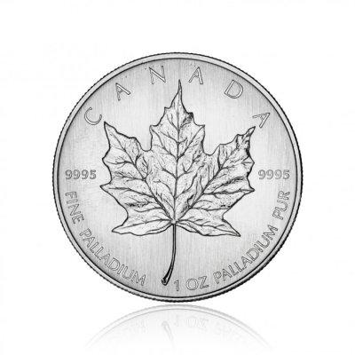 Paládiová investiční mince Maple Leaf 31,1 g – první strana