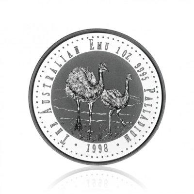 Paládiová investiční mince Australian Emu 31,1 gramu - první strana