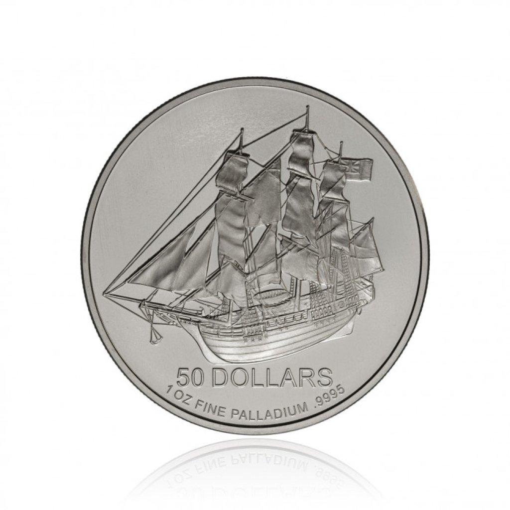 Paládiová investiční mince Cook Islands 31,1 g - první strana