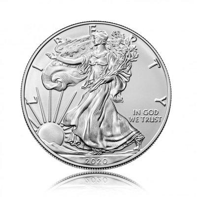 Stříbrná investiční mince American Eagle 31,10 gramů (1 Oz) – první strana