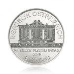 Platinová investiční mince Wiener Philharmoniker 1/25 Oz – druhá strana