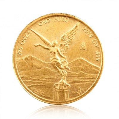 Zlatá investiční mince Mexiko Libertad 1/20 Oz – první strana