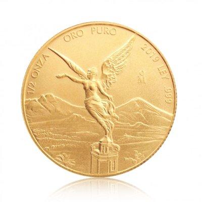 Zlatá investiční mince Mexiko Libertad 1/2 Oz – první strana