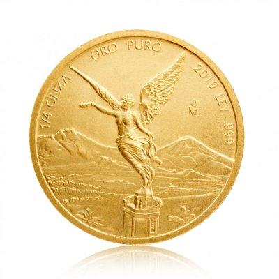 Zlatá investiční mince Mexiko Libertad 1/4 Oz – první strana
