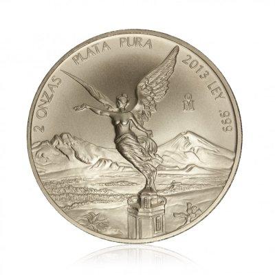 Stříbrná investiční mince Mexiko Libertad 62,21 g - první strana