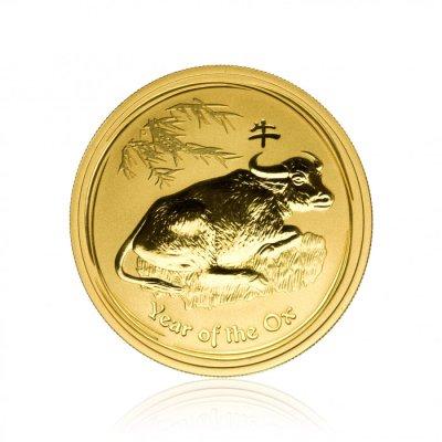 Zlatá investiční mince Australský lunární rok 2009 Buvol 31,1 g - první strana