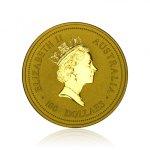 Zlatá investiční mince Australský Lunární rok 1997 Buvol 31,1 g - druhá strana
