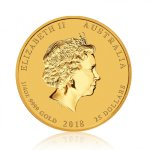 Zlatá investiční mince Australský lunární rok 2018 Pes 1/4 Oz – druhá strana