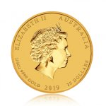 Zlatá investiční mince Australský lunární rok 2019 Vepř 7,78 g - druhá strana