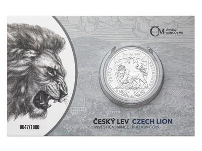 Nová unikátní investiční mince Český lev (vzor 2020) nově v našem e-shopu