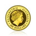 Zlatá investiční mince Nugget Kangaroo Klokan 62,2 g - druhá strana