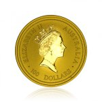 Zlatá investiční mince Australská Lunární Série I. 1996 Krysa / Myš 31,1 g - druhá strana