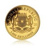 Zlatá investiční mince Africká divočina Somálský slon 31,1 gramu (1 Oz) – druhá strana