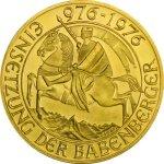 Zlatá investiční mince Babenberger 12,15 g - první strana