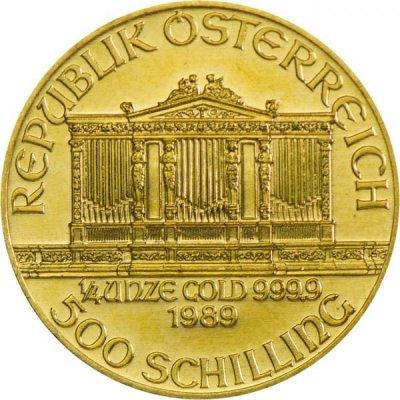 Zlatá investiční mince Wiener Philharmoniker ATS 7,78 g - druhá strana