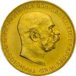 Zlatá investiční mince 100 Korun Rakousko 1915 novoražba 30,48 g - druhá strana