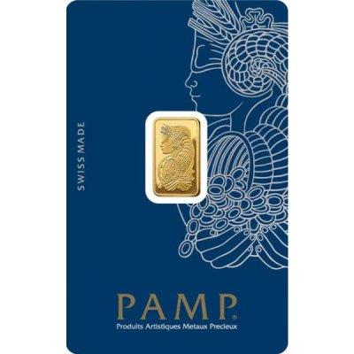 Zlatý investiční slitek PAMP Fortuna 2,5 g - první strana