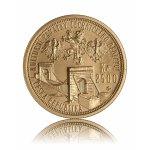 Zlatá mince Řetězový most ve Stádlci 2500 Kč - druhá strana