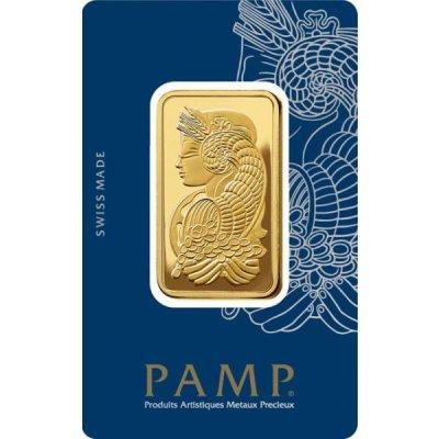 Zlatý investiční slitek PAMP Fortuna 31,1 g - první strana