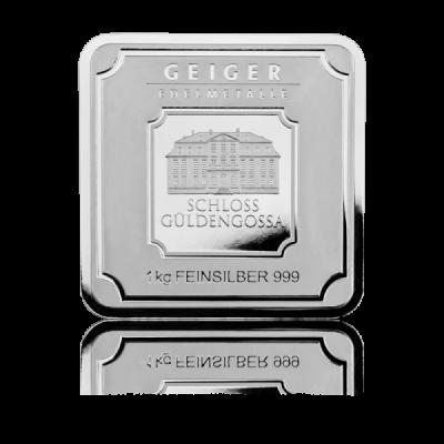 Stříbrný slitek Geiger original 1000 g .999 - první strana