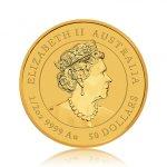 Zlatá investiční mince Australský Lunární rok 2021 Buvol 15,55 g - druhá strana