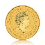 Zlatá investiční mince Australský Lunární rok 2021 Buvol 3,11 g - druhá strana