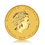 Zlatá investiční mince Australský lunární rok 2014 Kůň 31,1 g - druhá strana