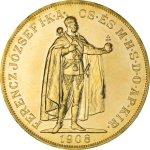 Zlatá investiční mince 100 Korun Maďarsko 1908 novoražba 30,48 g - druhá strana