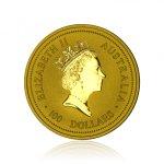 Zlatá investiční mince Australská Lunární Série I. 1998 Tygr 31,1 g - druhý obrázek