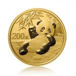 Zlatá investiční mince China Panda (Čínská panda) 15 g – přední strana