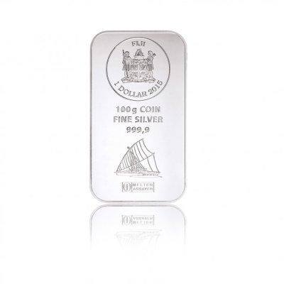 Stříbrný investiční mincovní slitek Fiji 100 g