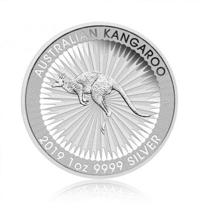 Stříbrná investiční mince Kangaroo 31.1 gramu (1 Oz) – první strana