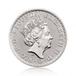 Stříbrná investiční mince Britannia 31,1 gramu (1 Oz) – druhá strana