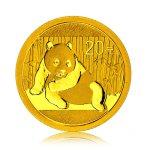 Zlatá investiční mince China Panda 1,55 g (1/20 Oz) - první strana