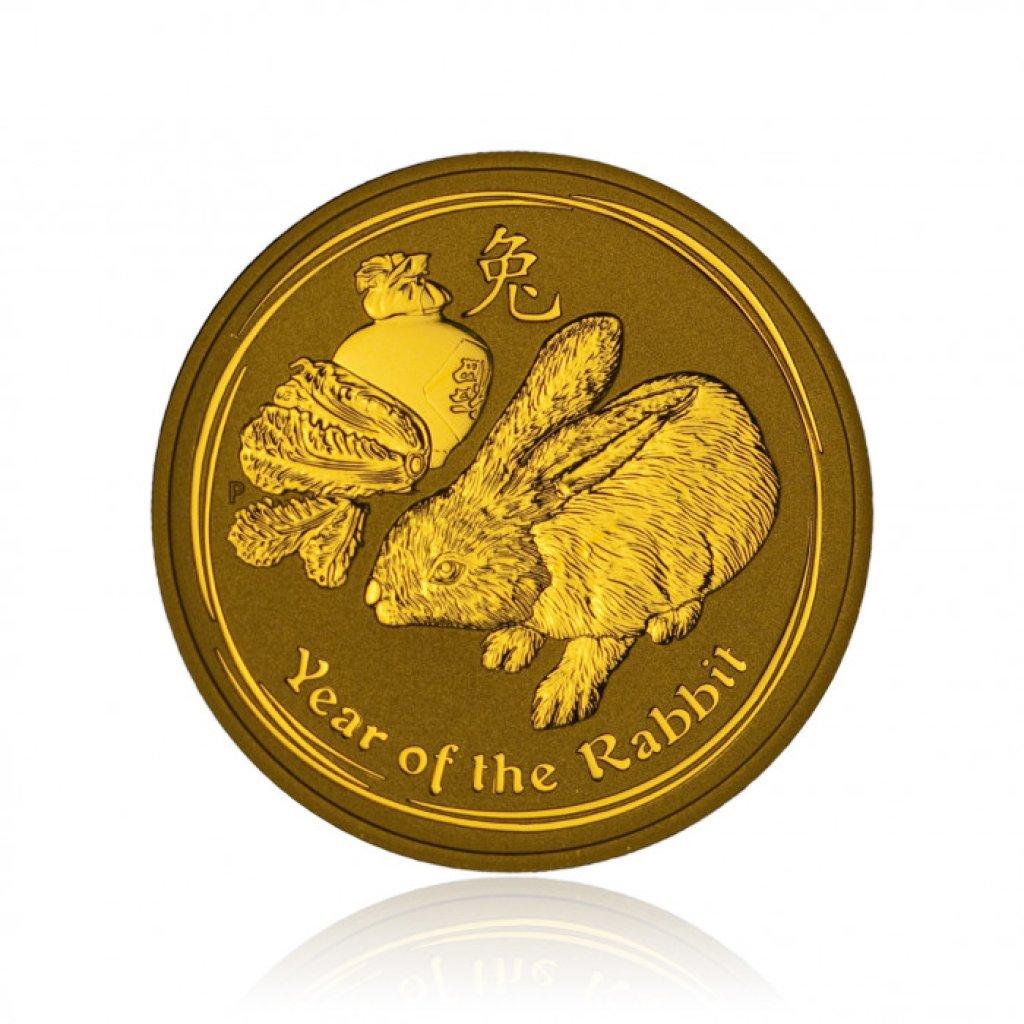 Zlatá investiční mince Australský lunární rok 2011 Králík 62,2 g - první strana