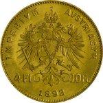 Zlatá mince 4 Florin Rakousko (Gulden) 10 Franků novoražba 2,90 g - první strana