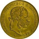 Zlatá mince 4 Florin Rakousko (Gulden) 10 Franků novoražba 2,90 g - druhá strana