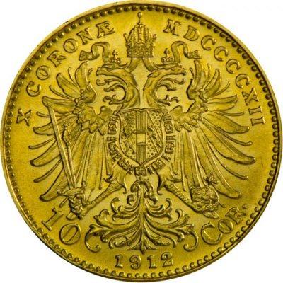 Zlatá investiční mince 10 Korun Rakousko novoražba 3,04 g - první strana