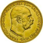 Zlatá investiční mince 10 Korun Rakousko novoražba 3,04 g - druhá strana
