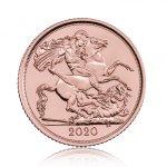 Zlatá mince 1/2 Libry Sovereign různé ročníky - 3,66 g - první strana
