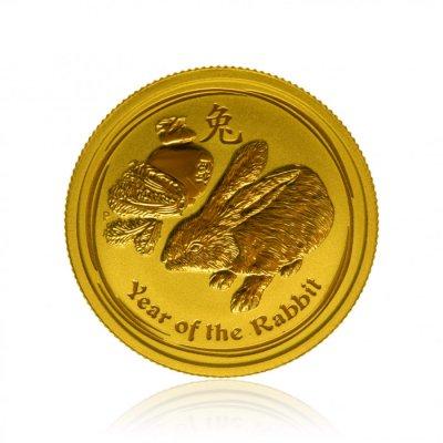 Zlatá investiční mince Australský lunární rok 2011 Králík 7,78 g (1/4 Oz) - první strana