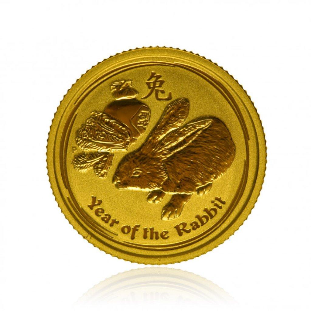 Zlatá investiční mince Australský lunární rok 2011 Králík 3,11 g (1/10 Oz) - první strana