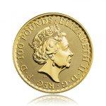 Zlatá investiční mince Britannia 1 Oz 999,9/1000 (od roku 2013) – druhá strana
