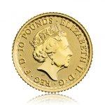 Zlatá investiční mince Britannia 3,11 g – druhá strana